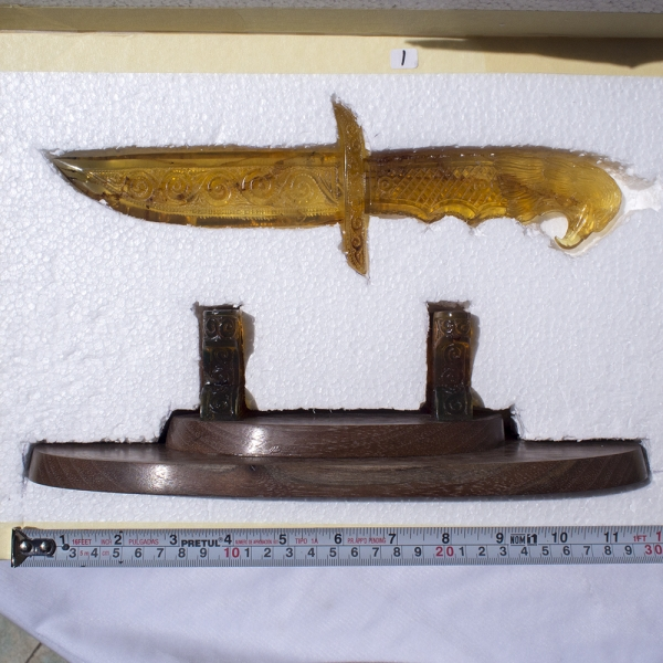 Amber Knife Carving