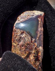 dominican red green amber half polished