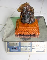 Mexican Amber Pakal Carving