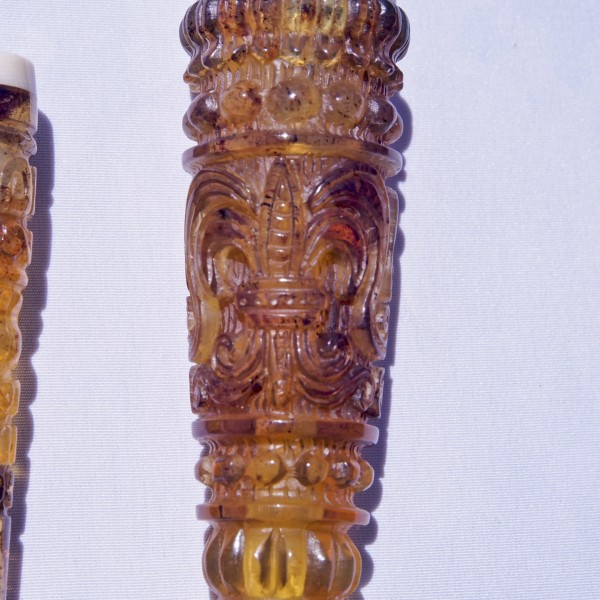 Cigarette Cigar Fashion Style Carving Mexican Amber