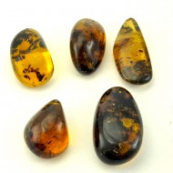 Mexican amber fully polished drilled pendant jewelry