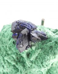 Azurite and Malachite Specimen 42.8g from Milpillas Mine in Sonora, Mexico - Crystals, Rocks, and Minerals