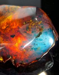 Blue Dominican Amber Stone, Partially Polished 89.9 g, Grade B