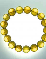 Calibrated Mexican Amber Sphere Bracelet 17.8 g, Grade B+, Sphere dimension: 12-13 mm