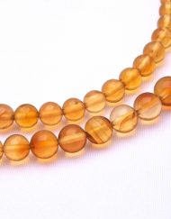 Calibrated Mexican Amber Sphere Necklace 6.8 g, 4.4 to 6.3mm Graduated
