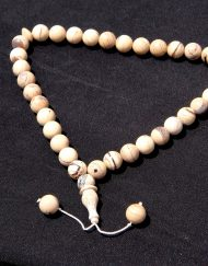 Calibrated White Indonesian Amber Prayer Beads, 37.5 g, Sphere dimensions: 12-13 mm
