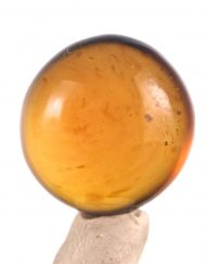 Fully Polished Indonesian Blue Amber Cabochon, 4.2 g