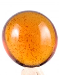 Fully Polished Indonesian Blue Amber Cabochon, 4.6 g
