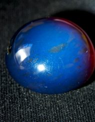 Fully Polished Indonesian Blue Amber Cabochon, 6.9 g