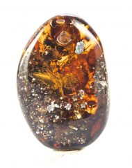 Fully Polished Mexican Blue Green Amber with Methane Termite Inclusion 12 g