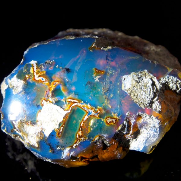 Half Polished Blue Dominican Amber Stone 15.6 g