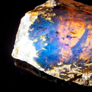Half Polished Blue Dominican Amber Stone 16.1 g