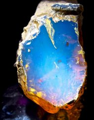 Half Polished Blue Dominican Amber Stone 33.7 g