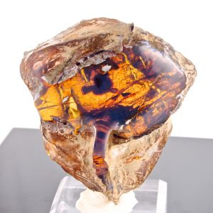 Half Polished Blue Dominican Amber Stone 51 g