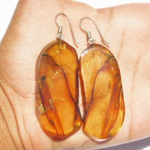 Mexican Amber Earring Slices 16.6 g