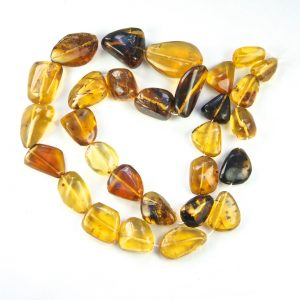 Mexican Blue Green Amber Beads  93.8 g