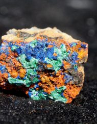 Moroccan Azurite with Malachite and Quartz 7.2 g- Crystals, Minerals, Rocks, and Geodes