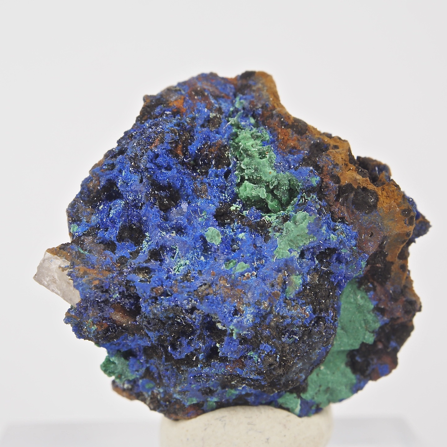 Azurite Mineral with Malachite and Quartz Crystals from ...