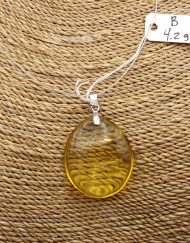 Mexican Amber Sterling Silver Pendant