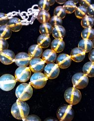 Mexican Amber Sphere Necklace