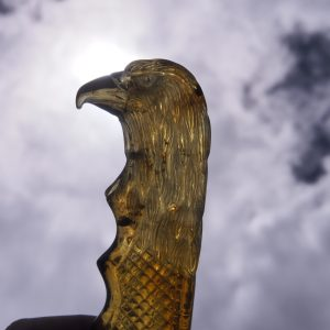 Mexican amber knife carving